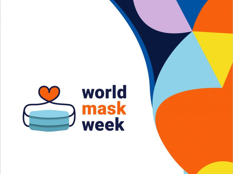 Graphic icon for world mask week campaign