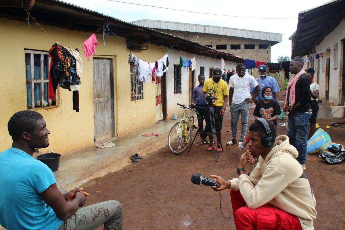 Filmmaking process Draufsicht Bamenda