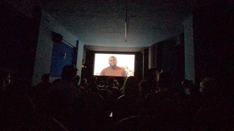 Community film screening, Draufsicht Bamenda