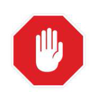 Hand Symbol of Stop