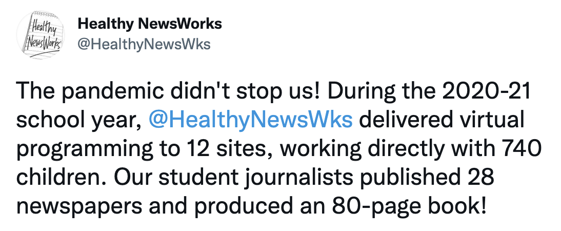 healthy newsworks tweet