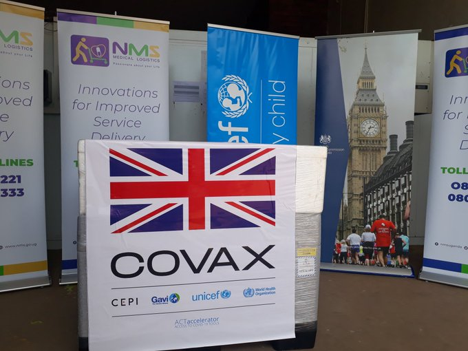 Image of COVAX tag for vaccine distribution
