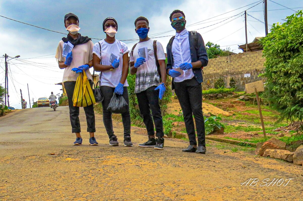 Youth activists in Cameroon